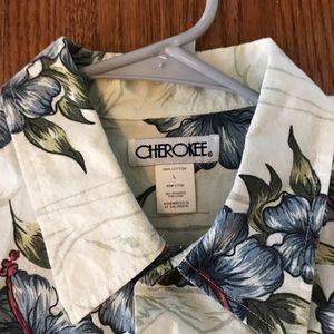 Cherokee Hawaiian Shirt Large